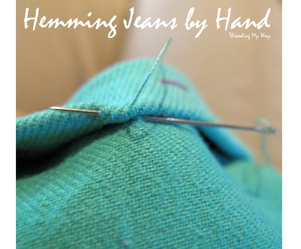 Tutorial: Hem jeans or pants by hand