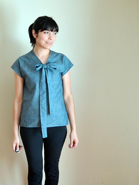 Free pattern: Necktie Top