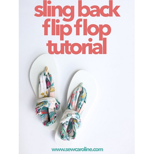 Tutorial: Sling back flip flops