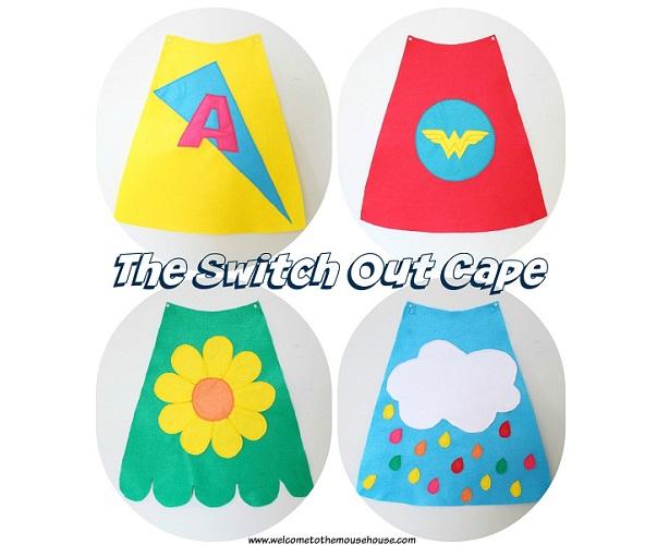 Free pattern: Detachable interchangeable play cape