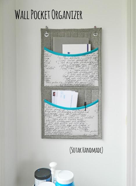 Tutorial: Wall pocket organizer