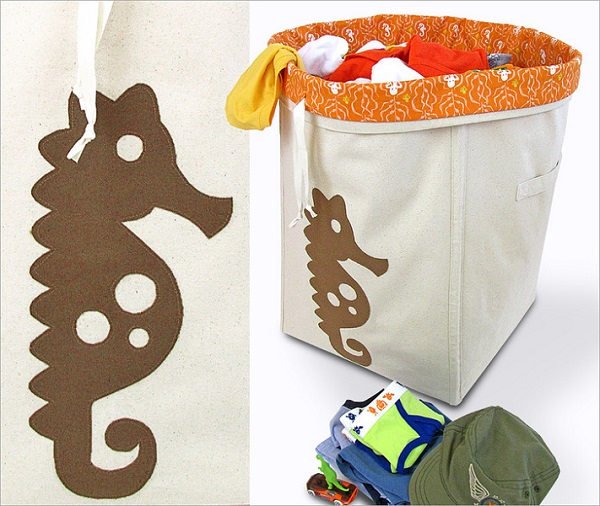 Tutorial: Canvas laundry hamper with removable liner