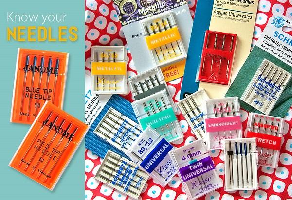 Tutorial: Sewing machine needle sizes and types explained