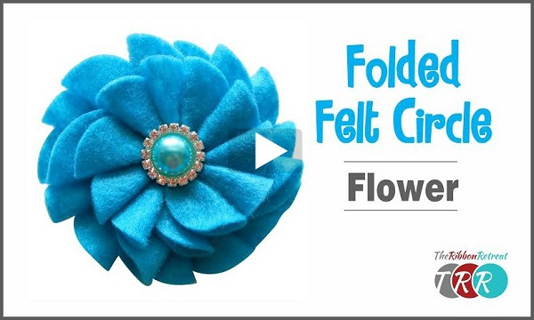 Tutorial: Easy folded fabric flower