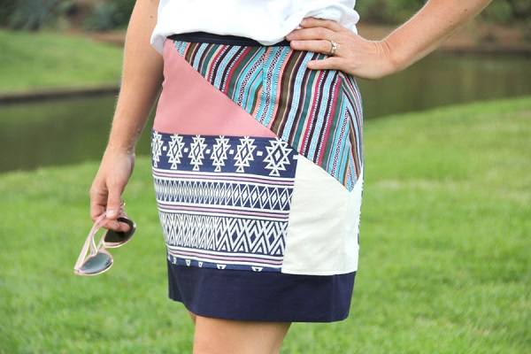 Tutorial: Boho patchwork pencil skirt