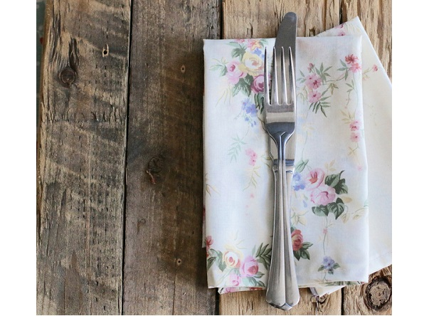 Tutorial: Mitered corner fabric napkins