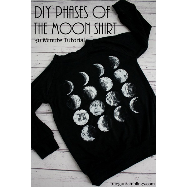Tutorial Phases Of The Moon T Shirt Sewing