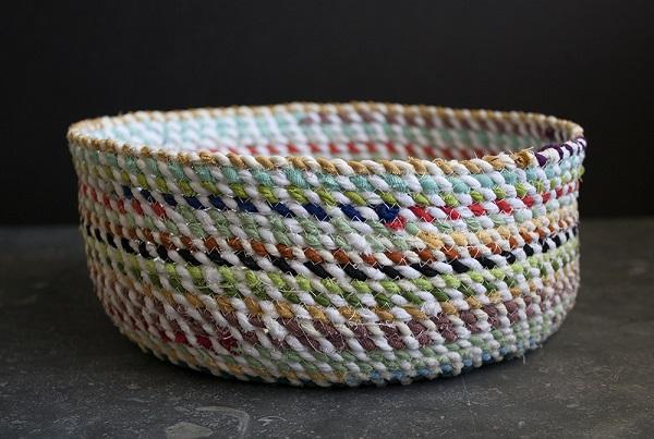 tutorial sew a rope basket sewing. Black Bedroom Furniture Sets. Home Design Ideas