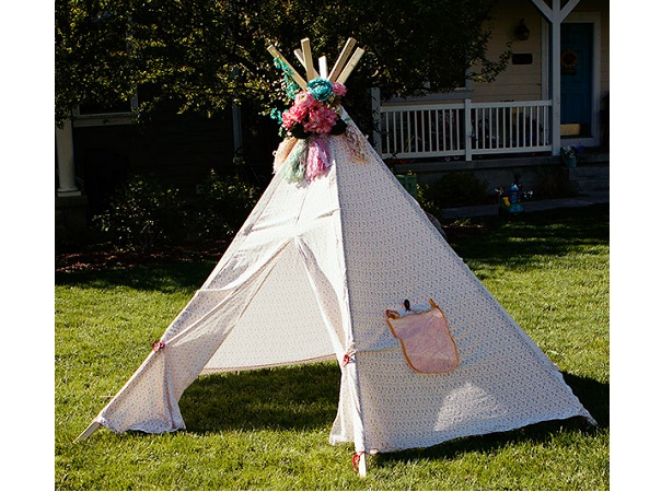 Free pattern: DIY tee pee tent