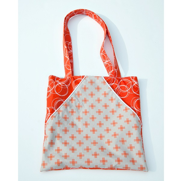 Tutorial: Triangle pocket tote bag   Sewing