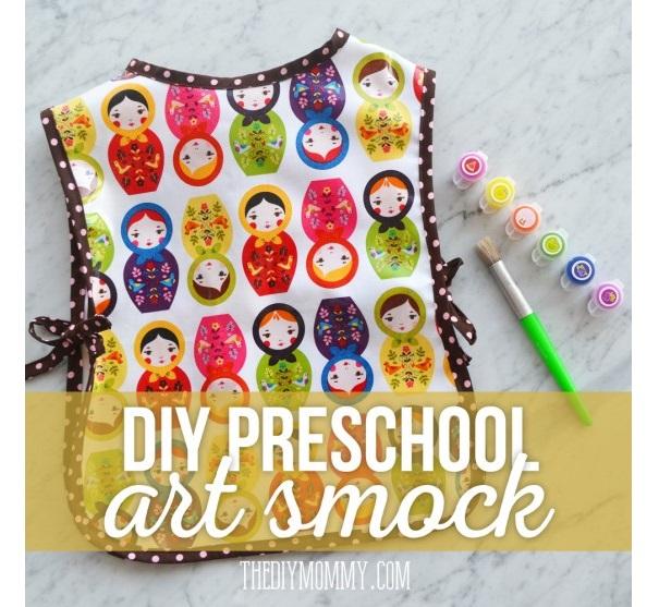 Free pattern: Preschool art smock