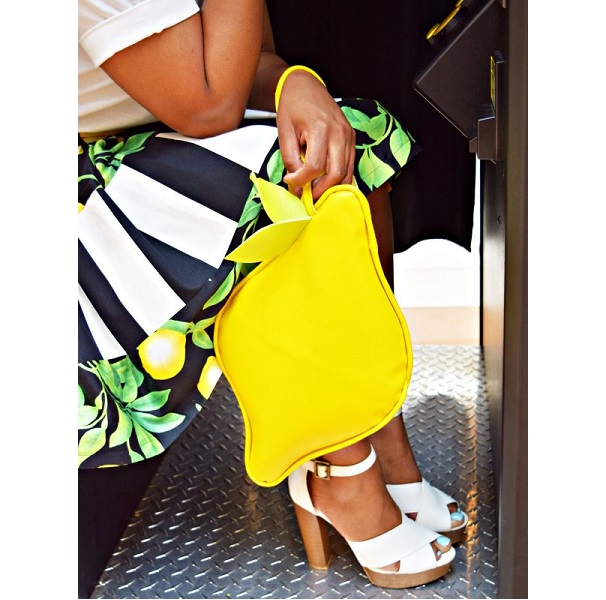 Tutorial: Vinyl lemon clutch purse