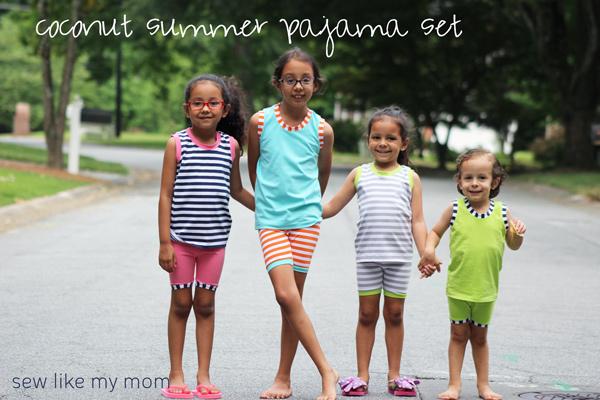 Free pattern: Coconut Summer Pajama Set for kids
