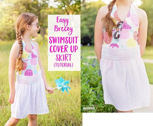 Tutorial: Easy Breezy Swimsuit Cover Up Skirt