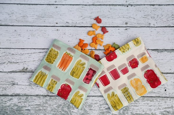 Tutorial: Reusable fabric snack bags