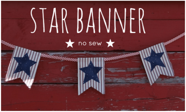 Tutorial: No-sew 4th of July star banner