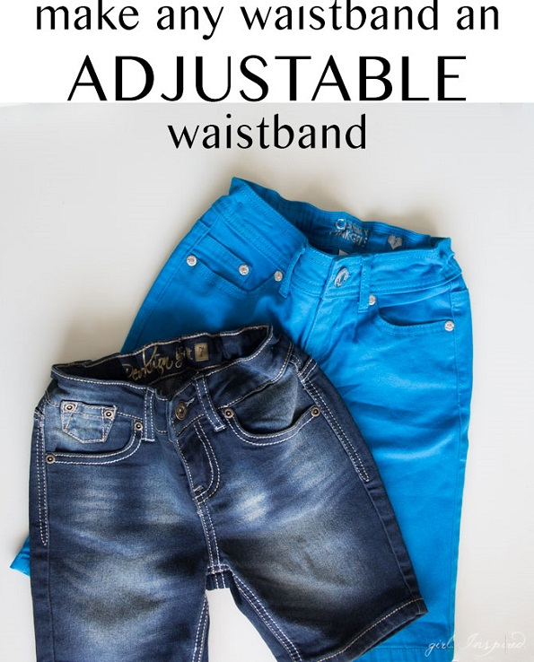 Tutorial: Add an adjustable waistband to kids' jeans
