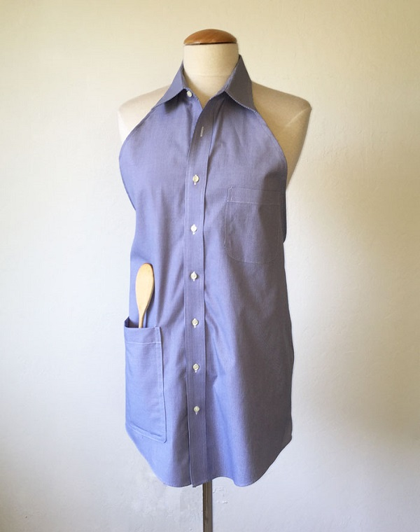 Tutorial: Apron from a button up shirt