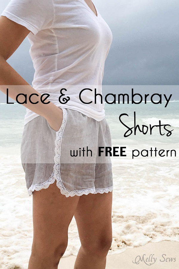 Free pattern: Lace trimmed shorts