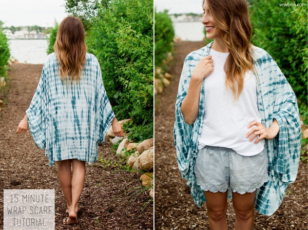Tutorial: Make this versatile wrap scarf in just 15 minutes