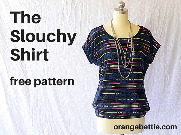 My latest Slouchy Shirts, and a free pattern