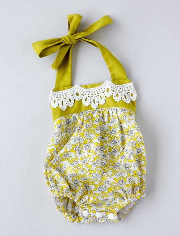 Free pattern: Boho baby romper
