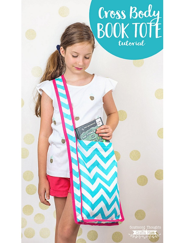 Tutorial: Sew a cross body book tote