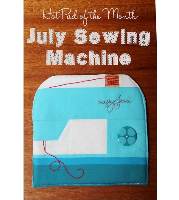 Free pattern: Sewing machine hot pad