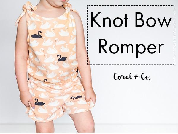 Free pattern: Knot Bow Romper