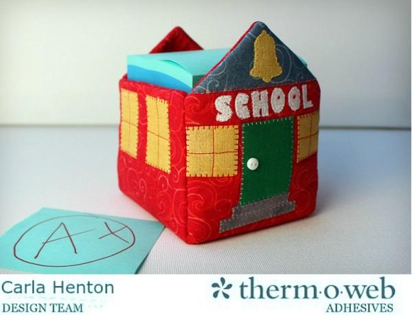 Free pattern: Schoolhouse sticky note holder