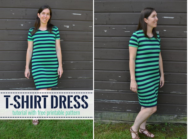 Free pattern: Simple t-shirt dress – Sewing