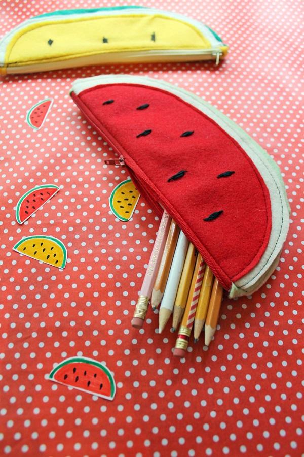 Tutorial: Watermelon zip pouches