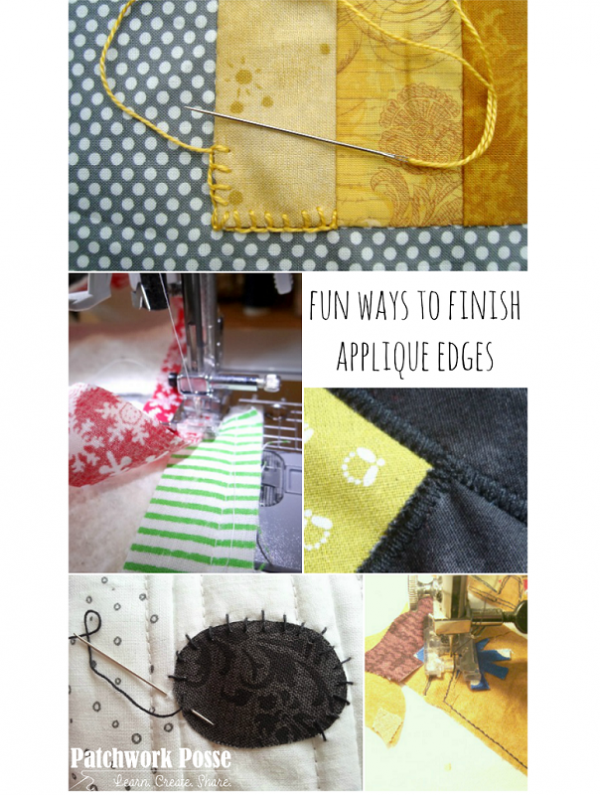 5 ways to finish the edge of an applique