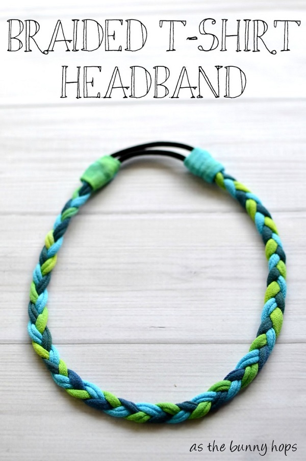 Tutorial: No-sew braided t-shirt headband