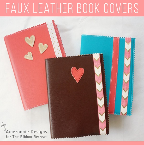 Book Cover Sewing Room : Tutorial easy faux leather book covers sewing