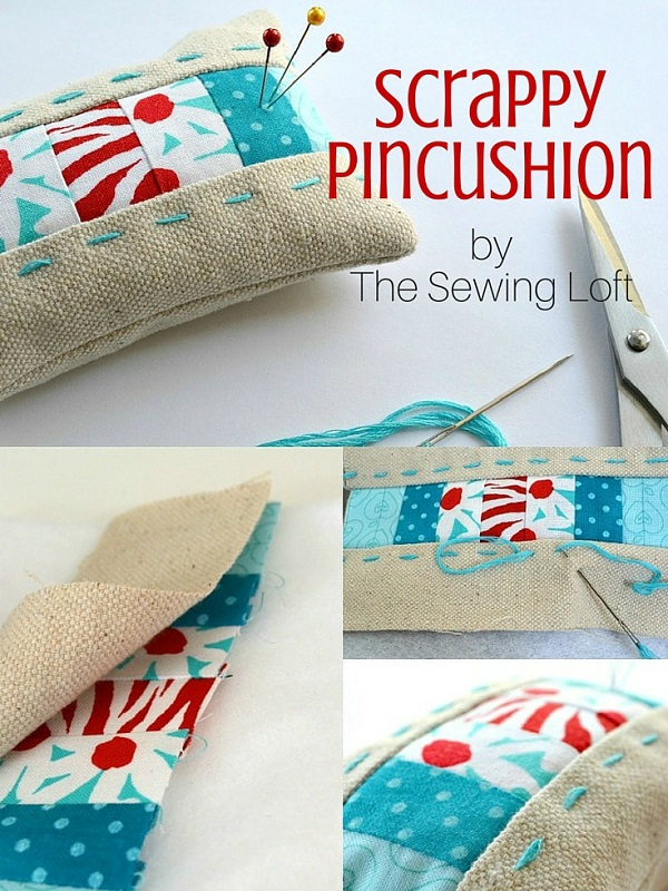 Tutorial: Make a patchwork pincushion from your tiniest fabric scraps