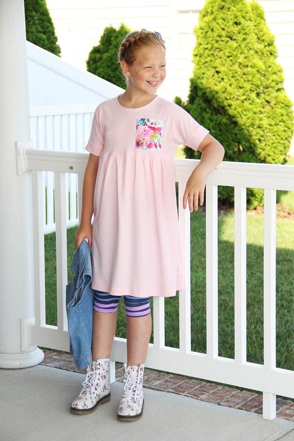 Free pattern: Babydoll dolman dress in girls' sizes