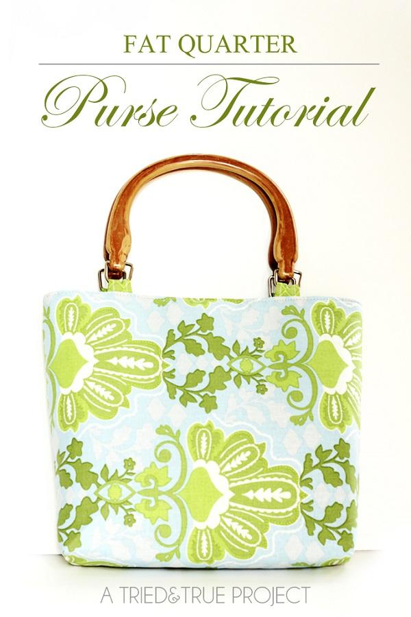 Free pattern: Fat quarter purse