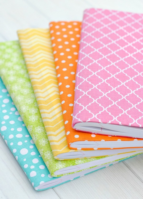 Tutorial No Sew Fabric Covered Journals Sewing