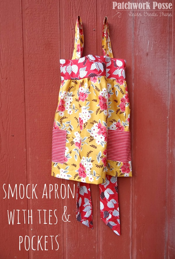 Tutorial: Smock apron with big pockets