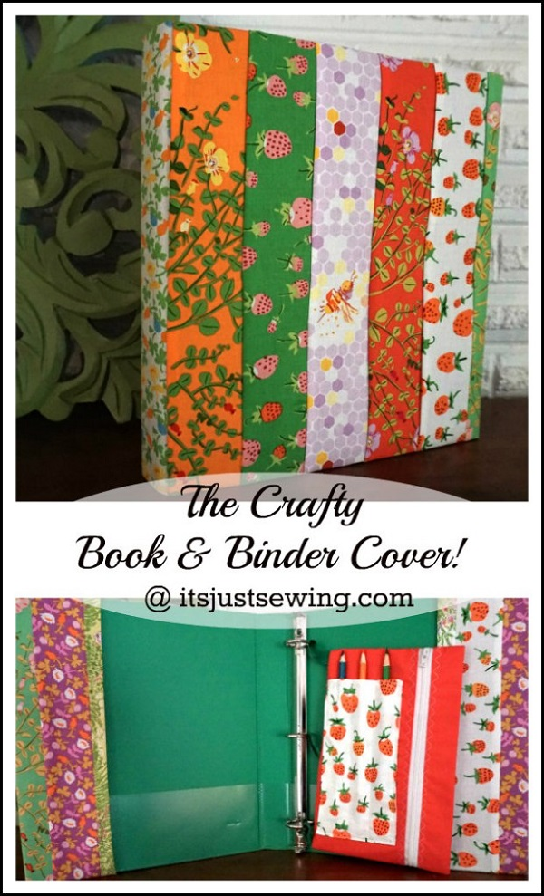 Book Cover Craft Books : Tutorial crafty book binder cover sewing