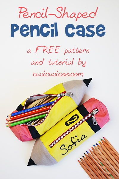 Tutorial: Pencil-shaped zip pouch