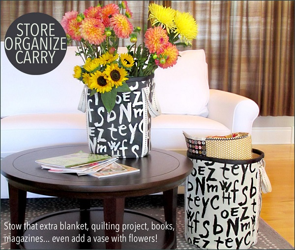 Tutorial: Tall canvas storage bins