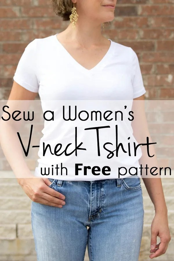 Free pattern: Women's V-neck t-shirt
