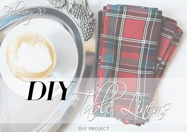 Tutorial: DIY fabric napkins with mitered corners