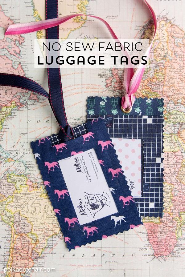 Tutorial: No-sew fabric luggage tags