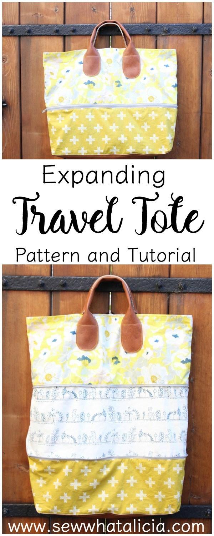 Tutorial: Expandable travel tote bag
