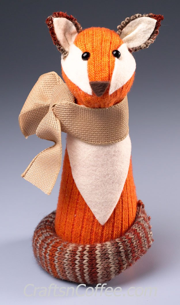Tutorial: No-sew woodland sock fox