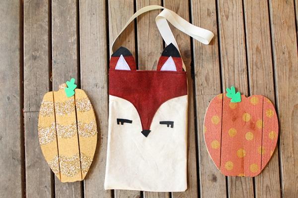 Free pattern: Woodland fox tote bag