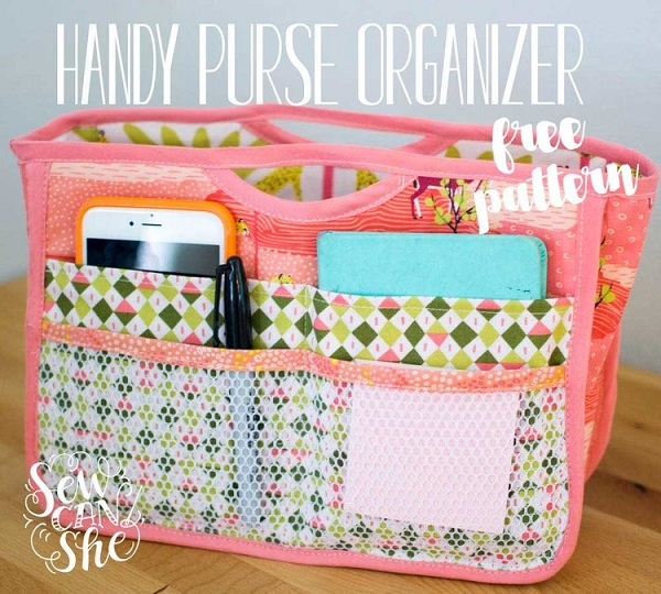 Free pattern: Handy Purse Organizer